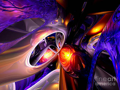 Mythical Glass Art Digital Art - Relaxation Theory Abstract by Alexander Butler