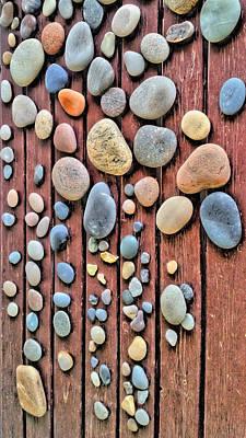 Relaxing Drops Of Stone Print by Sascha Richartz