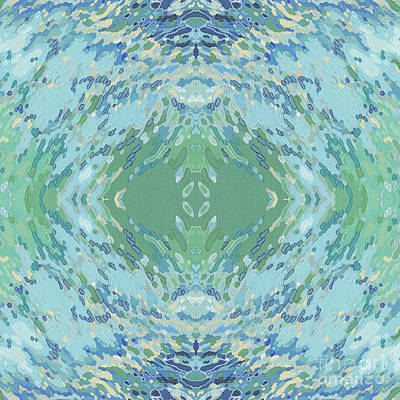 Juul Painting - Relaxing Mandala by Margaret Juul