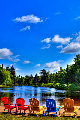 Water Photograph - Relaxing On The Moose River by David Patterson