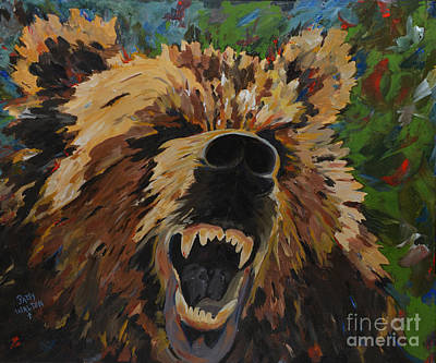 Growling Painting - Relentless by Patsy Walton