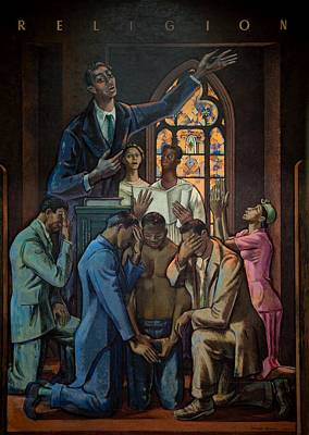 Black History Painting - Religion by Millard Owen Sheets