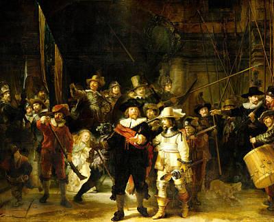 Nightwatch Mixed Media - Rembrandt Nightwatch by Design Turnpike