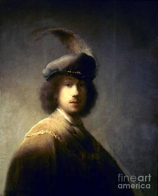 Self-portrait Photograph - Rembrandt Van Rijn by Granger