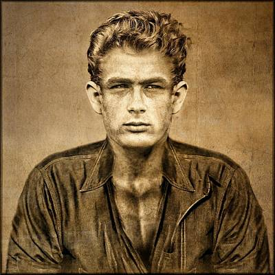 Cinema Digital Art - Remember James Dean V by Daniel Arrhakis