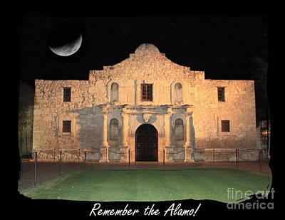 Remember Digital Art - Remember The Alamo by Carol Groenen