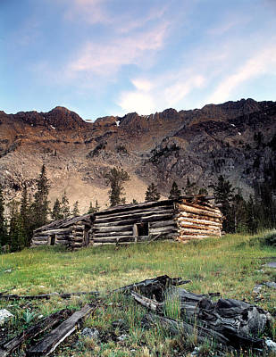 Old Cabins Photograph - Remote by Leland D Howard