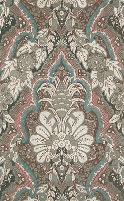 Renaissance Textile Pattern Print by English School