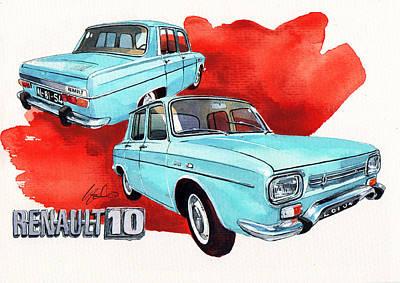 Renault 10 Print by Yoshiharu Miyakawa