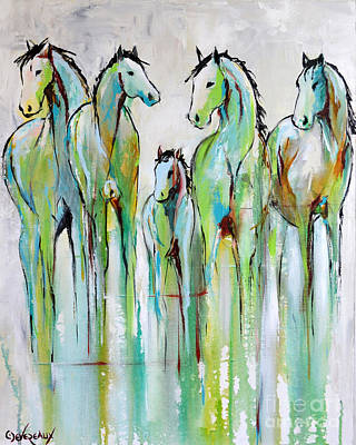 Wild Horse Painting - Renewal by Cher Devereaux
