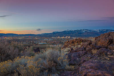 Reno Spring Sunrise Ovserlook Print by Scott McGuire