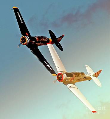 Reno T-6s  Honest Entry And Grace 8 Race On Original by Gus McCrea