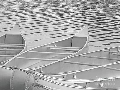 Rent A Canoe Or Six Print by Ann Horn