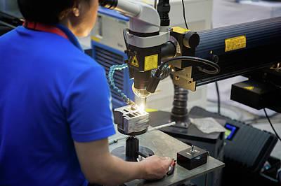 repair mold and die part by Laser welding machine Print by Anek Suwannaphoom