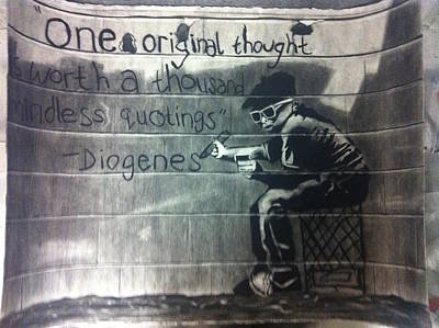 Banksy Drawing - Repetition by Margo Kurtzke