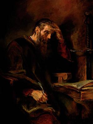 Replica Of Rembrandt's Apostle Paul Print by Tigran Ghulyan