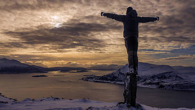 Noruega Photograph - Replicating The Statue From Rio Grande by Iwan Groot