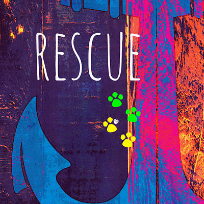 Must Art Mixed Media - Rescue Anchor by Brandi Fitzgerald