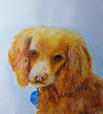 Cocker Spaniel Painting - Rescue Dog by Deb Breton
