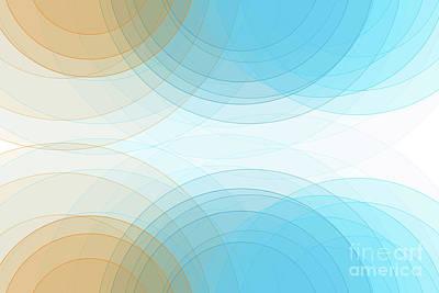 Digital Art - Research Semi Circle Background Horizontal by Frank Ramspott