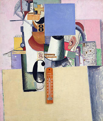 Structure Mixed Media - Reservist Of The First Division by Kazimir Severinovich Malevich