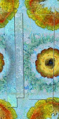 Merging Painting - Reshoeing Raw Flower  Id 16165-000405-91201 by S Lurk