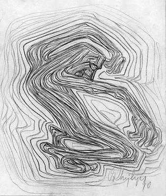 Abstract Expressionism Drawing - Resonance by Taylan Soyturk