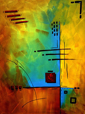 Lime Painting - Resonating By Madart by Megan Duncanson