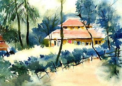 Rest House Print by Anil Nene