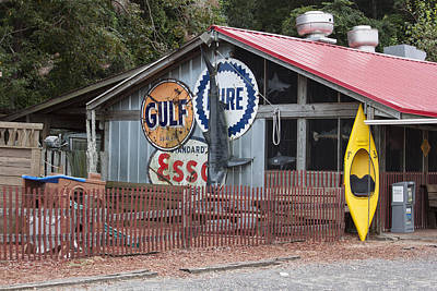 Metal Fish Art Photograph - Restaurant In Murrells Inlet by Suzanne Gaff