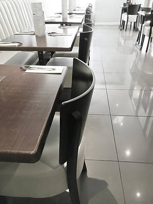 Empty Chairs Photograph - Restaurant Seats by Tom Gowanlock