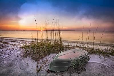 Restful Dunes Print by Debra and Dave Vanderlaan