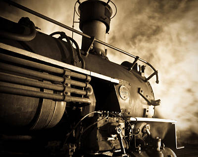 Locomotive Photograph - Resting Overnight by Patrick  Flynn