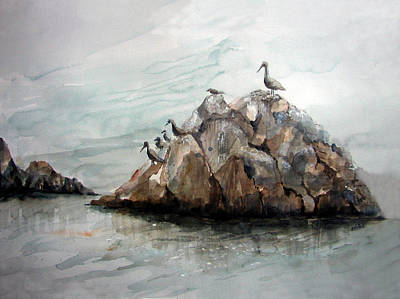 Pelican Painting - Resting Place - Corona Del Mar Ca by Arline Wagner