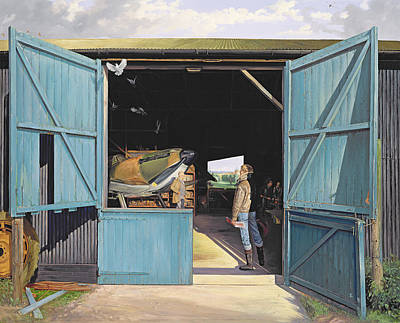 Spitfire Painting - Restoration by Timothy Easton