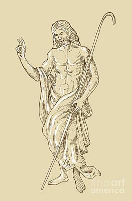 Resurrected Jesus Christ Print by Aloysius Patrimonio