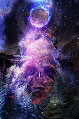 Ayahuasca Digital Art - Resurrection by Cameron Gray