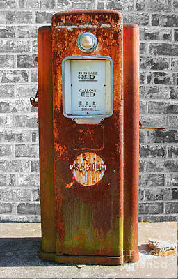 Premium Gas Photograph - Retired 2 by Barbara Teller