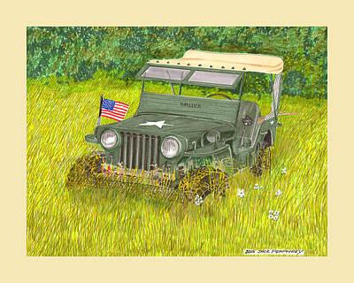 Retired But Still Ready Print by Jack Pumphrey