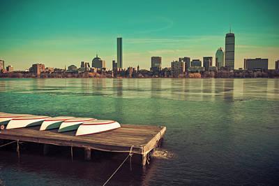 Retro Boston Print by Andrew Kubica