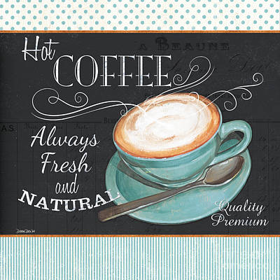 Dots Painting - Retro Coffee 1 by Debbie DeWitt