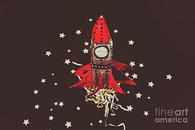 Retro Cosmic Adventure Print by Jorgo Photography - Wall Art Gallery