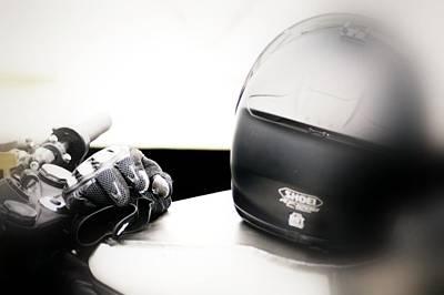 Motorcycle Photograph - Retro Helmet 3 by Cindy Nunn