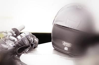 Motorcycle Photograph - Retro Helmet 5 by Cindy Nunn