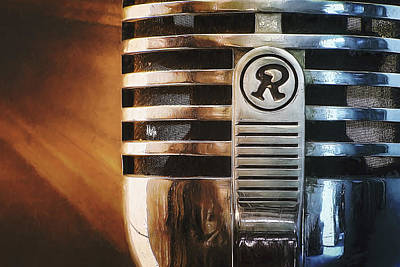 Closeups Photograph - Retro Microphone by Scott Norris