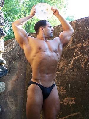 Retro Muscle Male Muscle Art Print by Jake Hartz