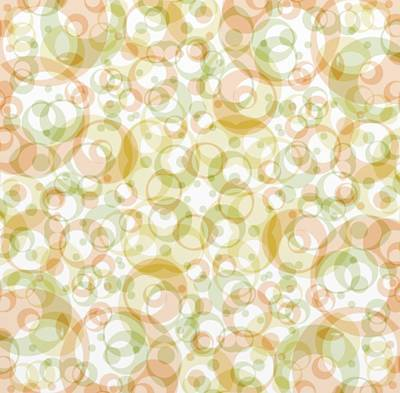 Retro Pattern In Light Earth Tones On White  Print by Gina Lee Manley