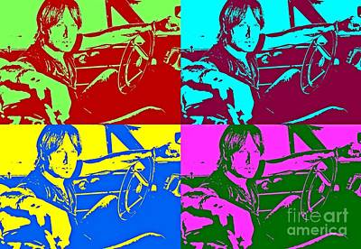 Retro Pop Of Keith Urban Print by John Malone