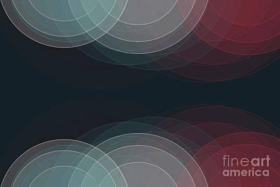 Digital Art - Retro Semi Circle Background Horizontal by Frank Ramspott
