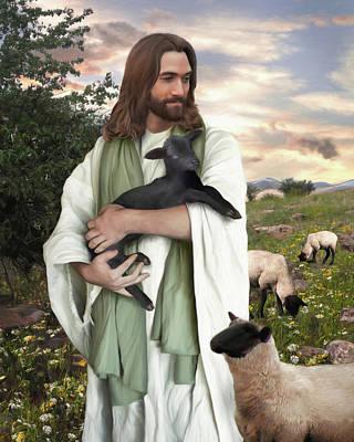 Jesus Christ Digital Art - Returned To The Fold by Brent Borup